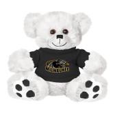 Plush Big Paw 8 1/2 inch White Bear w/Black Shirt-Official Logo