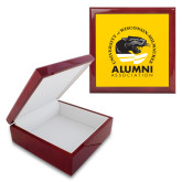 Red Mahogany Accessory Box With 6 x 6 Tile-Alumni Association