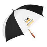 62 Inch Black/White Vented Umbrella-Helen Bader School