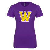 Next Level Ladies SoftStyle Junior Fitted Purple Tee-W