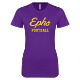 Next Level Ladies SoftStyle Junior Fitted Purple Tee-Ephs Football
