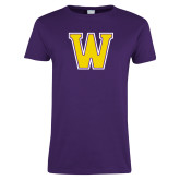 Ladies Purple T Shirt-W