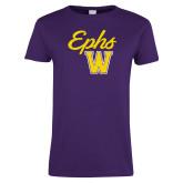 Ladies Purple T Shirt-Ephs w/ W