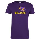 Ladies Purple T Shirt-Williams w/ Cow