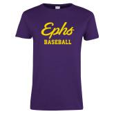 Ladies Purple T Shirt-Ephs Baseball
