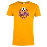 Ladies Gold T Shirt-NCAA DIII National Champions