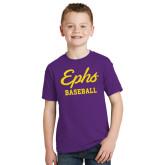 Youth Purple T Shirt-Ephs Baseball