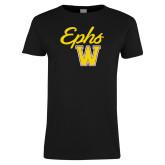 Ladies Black T Shirt-Ephs w/ W