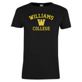 Ladies Black T Shirt-Williams College w/ W