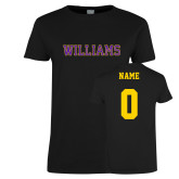 Ladies Black T Shirt-Primary Mark - Athletics, Personalized Name and #