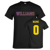 Black T Shirt-Primary Mark - Athletics, Personalized Name and #