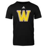 Adidas Black Logo T Shirt-W