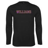 Performance Black Longsleeve Shirt-Primary Mark - Athletics