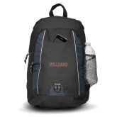 Impulse Black Backpack-Primary Mark - Athletics