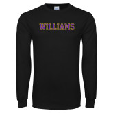 Black Long Sleeve T Shirt-Primary Mark - Athletics