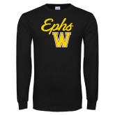 Black Long Sleeve T Shirt-Ephs w/ W