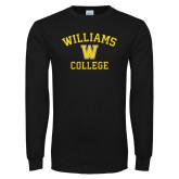 Black Long Sleeve T Shirt-Williams College w/ W