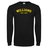 Black Long Sleeve T Shirt-Arched Est. Year