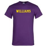 Purple T Shirt-Primary Mark - Athletics
