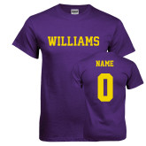 Purple T Shirt-Primary Mark - Athletics, Personalized Name and #