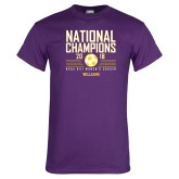 Purple T Shirt-2018 NCAA DIII National Champions
