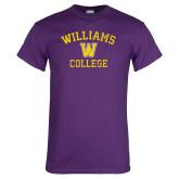 Purple T Shirt-Williams College w/ W Distressed