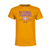 Youth Gold T Shirt-2018 NCAA DIII National Champions