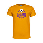Youth Gold T Shirt-NCAA DIII National Champions
