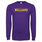 Purple Long Sleeve T Shirt-Primary Mark - Athletics