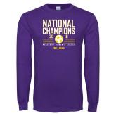 Purple Long Sleeve T Shirt-2018 NCAA DIII National Champions