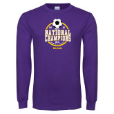 Purple Long Sleeve T Shirt-NCAA DIII National Champions