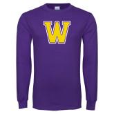 Purple Long Sleeve T Shirt-W