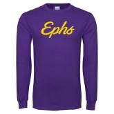 Purple Long Sleeve T Shirt-Ephs