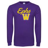 Purple Long Sleeve T Shirt-Ephs w/ W