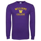 Purple Long Sleeve T Shirt-Williams College w/ W