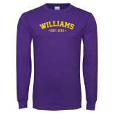 Purple Long Sleeve T Shirt-Arched Est. Year
