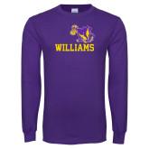 Purple Long Sleeve T Shirt-Williams w/ Cow