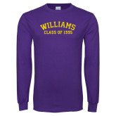 Purple Long Sleeve T Shirt-Class of… Personalized