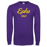 Purple Long Sleeve T Shirt-Ephs Golf