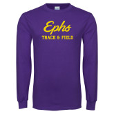 Purple Long Sleeve T Shirt-Ephs Track and Field