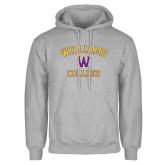 Grey Fleece Hoodie-Williams College w/ W