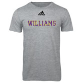 Adidas Sport Grey Logo T Shirt-Primary Mark - Athletics