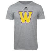 Adidas Sport Grey Logo T Shirt-W