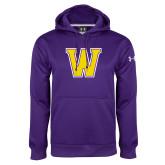 Under Armour Purple Performance Sweats Team Hoodie-W