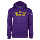 Under Armour Purple Performance Sweats Team Hoodie-Swim and Dive