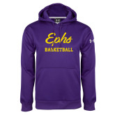 Under Armour Purple Performance Sweats Team Hoodie-Ephs Basketball