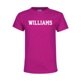 Youth Cyber Pink T Shirt-Primary Mark - Athletics