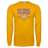 Gold Long Sleeve T Shirt-2018 NCAA DIII National Champions
