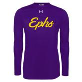 Under Armour Purple Long Sleeve Tech Tee-Ephs