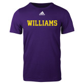 Adidas Purple Logo T Shirt-Primary Mark - Athletics